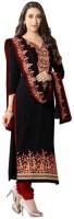 Parishi Fashion Cotton Embroidered Salwar Suit Dupatta Material(Un-stitched)