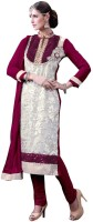 Styliner Georgette Self Design Salwar Suit Dupatta Material(Un-stitched)