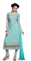 Parishi Fashion Chanderi Embroidered Salwar Suit Dupatta Material(Un-stitched)