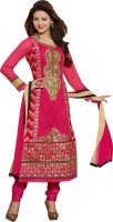Shoponbit Georgette Embroidered Salwar Suit Dupatta Material(Un-stitched)