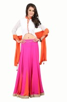BanoRani Georgette Self Design Salwar Suit Dupatta Material(Un-stitched)