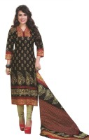 Pshopee Cotton Printed Salwar Suit Dupatta Material(Un-stitched)