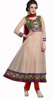 Khushali Net Self Design, Embroidered, Embellished Salwar Suit Dupatta Material(Un-stitched)