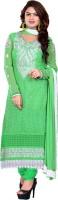 Araja Georgette Embroidered Semi-stitched Salwar Suit Dupatta Material
