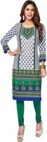 Party Wear Dresses Cotton Printed Kurti Fabric(Un-stitched)