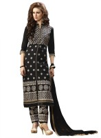 BanoRani Cotton Embroidered Semi-stitched Salwar Suit Dupatta Material
