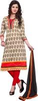 Khushali Chanderi Self Design, Printed Salwar Suit Dupatta Material(Un-stitched)