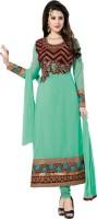 Sonal Trendz Georgette Embroidered Semi-stitched Salwar Suit Dupatta Material