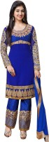Khusahli Georgette Self Design, Embroidered Dress/Top Material(Un-stitched)