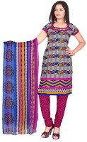 Khushali Crepe Self Design, Printed Dress/Top Material(Un-stitched)