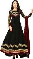Javuli Georgette Floral Print Semi-stitched Salwar Suit Dupatta Material