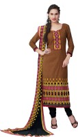 BanoRani Cotton Embroidered Dress/Top Material(Un-stitched)
