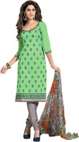 Khushali Chanderi Self Design, Embroidered Dress/Top Material(Un-stitched)