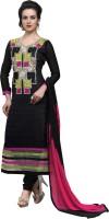 Araja Cotton Embroidered Semi-stitched Salwar Suit Dupatta Material