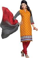 Dfolks Cotton Printed Salwar Suit Dupatta Material(Un-stitched)