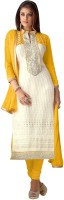 Trendz Apparels Georgette Embroidered Dress/Top Material(Un-stitched)
