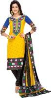 EthnicVibe Cotton Printed Salwar Suit Dupatta Material(Un-stitched)
