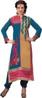 Morli Georgette Self Design Salwar Suit Dupatta Material(Un-stitched)