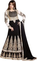 Shoppingover Georgette Self Design Semi-stitched Salwar Suit Dupatta Material
