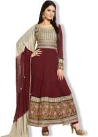 Shoponbit Viscose Embroidered Semi-stitched Salwar Suit Dupatta Material