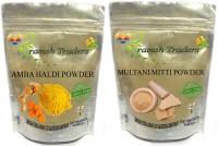 PRAMSH AMBA HALDI 100GM + MULTANI MITTI 200GM POWDER(300 g) - Price 195 80 % Off