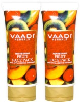 Vaadi Herbals Refreshing Fruit Face Pack with Apple, Lemon & Cucumber - Pack of 2(240 g)