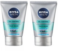 Nivea For Men Advanced Whitening Oil Control Face Wash (Pack of 2) Face Wash(200 ml)