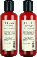 Khadi Sandal & Honey Herbal Face Wash Pack of 2(210 ml)