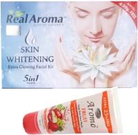 Bigsale786 Real Aroma Skin Whitning Facial Kit 5 in 1 Free Asta Berry Skin Whitning Face Wash 740 g(Set of 5)