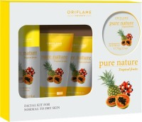 Oriflame Sweden Pure Nature Tropical Fruits Facial Kit 150 ml(Set of 4)