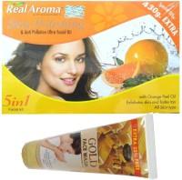 Bigsale786 Real Aroma Skin Plishing Facial Kit 5 in 1 Free Asta Berry Orange Face Wash 740 g(Set of 5)