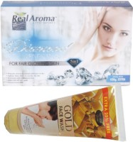 Bigsale786 Real Aroma Diamond Facial Kit 5 in 1 Free Aroma Gold Face Wash 740(Set of 5)