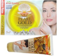 Real Aroma Pearl Gold Facial Kit 5 in 1 710 g(Set of 5)