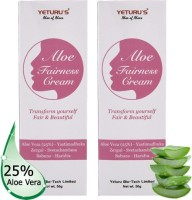 Yeturus Aloe Fairness Cream (Aloe Vera 25%) 50gms (pack of 2nos)(100 g)