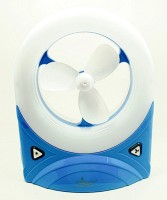 View Unitech Rechargeable Stealodeal Mini Desk with Led Light 3 Blade Table Fan(Blue, Yellow, Red) Home Appliances Price Online(Unitech)