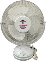 View Turbo 4000 All Purpose with Revolving 12 inch 3 Blade Table Fan(White) Home Appliances Price Online(Turbo 4000)
