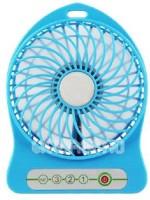 View Shopimoz Mini Portable Super Fast Mist Rechargeable Fan 4 Blade Table Fan(Blue) Home Appliances Price Online(Shopimoz)