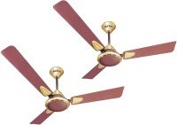 View ACTIVA GALAXY-2 5 STAR PACK OF TWO 3 Blade Ceiling Fan(Gold) Home Appliances Price Online(ACTIVA)
