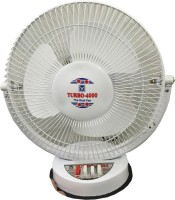 View Turbo 4000 All Purpose 3 Speed 12 inch 3 Blade Table Fan(White) Home Appliances Price Online(Turbo 4000)