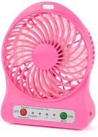 View Shopimoz Mini Portable Super Fast Mist Rechargeable Fan 4 Blade Table Fan(Pink) Home Appliances Price Online(Shopimoz)