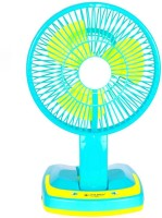 View Jy Super Rechargeable Ac-Dc 2 Speed And 21 SMD Light 3 Blade Table Fan(Multi Color) Home Appliances Price Online(Jy Super)