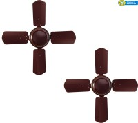View Citron CF002 (Pack of Two) 4 Blade Ceiling Fan(Brown) Home Appliances Price Online(Citron)
