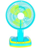 View SURYATEJA Rechargeable Ac-Dc 2 Speed And 21 SMD Light 3 Blade Table Fan(GREEN/) Home Appliances Price Online(SURYATEJA)