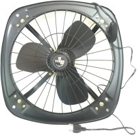 View Turbo 4000 Reversible High Speed 12inch 3 Blade Exhaust Fan(Black) Home Appliances Price Online(Turbo 4000)