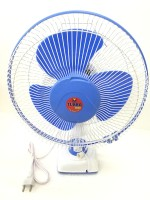 View Turbo 4000 Oscillating High Speed 3 Blade Wall Fan(White & Blue) Home Appliances Price Online(Turbo 4000)