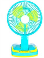 View Jy Super Rechargeable portable Led Light 3 Blade Table Fan(Green & White, Multicolor) Home Appliances Price Online(Jy Super)