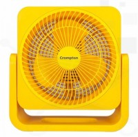 CROMPTON 1525 200 mm 3 Blade Table Fan(Red/ Yellow, Pack of 1)