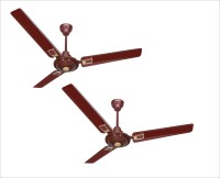 ACTIVA APSRA DECO 5 STAR PACK OF TWO 1200 mm 3 Blade Ceiling Fan(BROWN, Pack of 2)