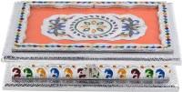 Shreeng Shreeng Handicraft 10x7 Silver Meena Dry Fruit/ Multipurpose Box (18cmX25cmX6cm) Wood Decorative Platter(Multicolor)