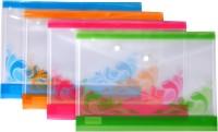KEA Plastic Button Bag(Set Of 12, Blue, Orange, Red, Green)